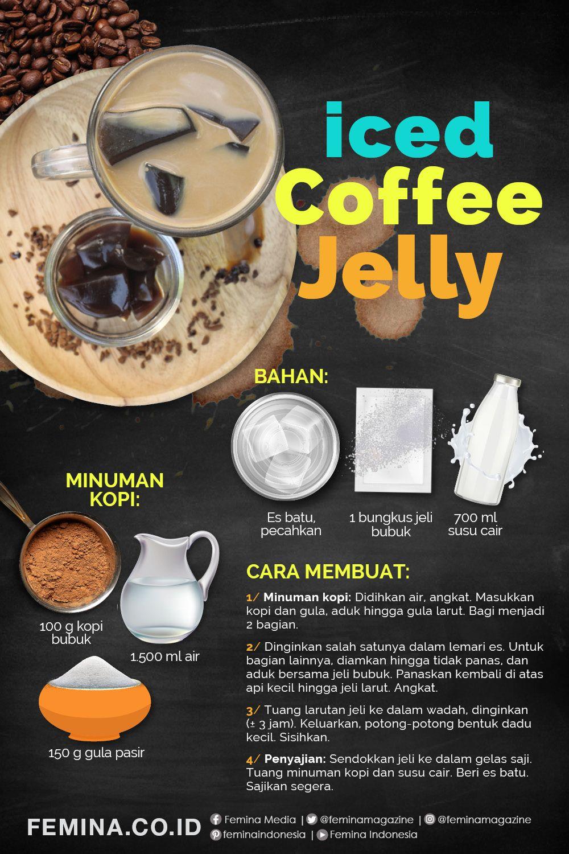 Resep Iced Coffee Jelly Ide Makanan Makanan Resep Kopi