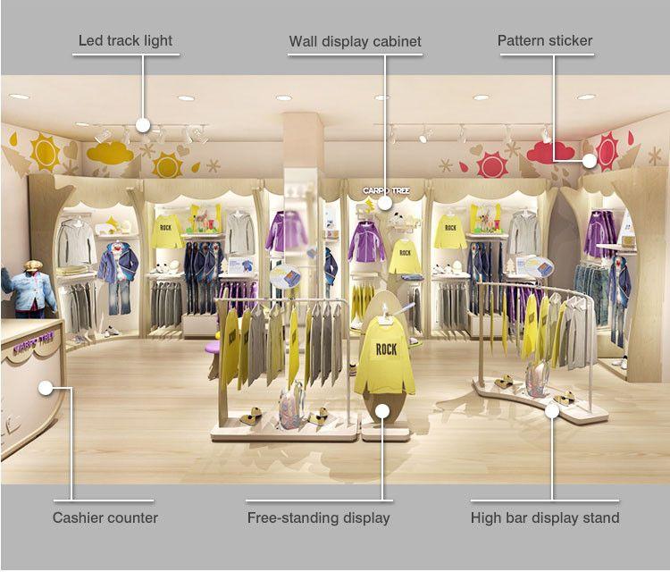High End 4 Way Clothing Garment Display Rack Furniture Buy