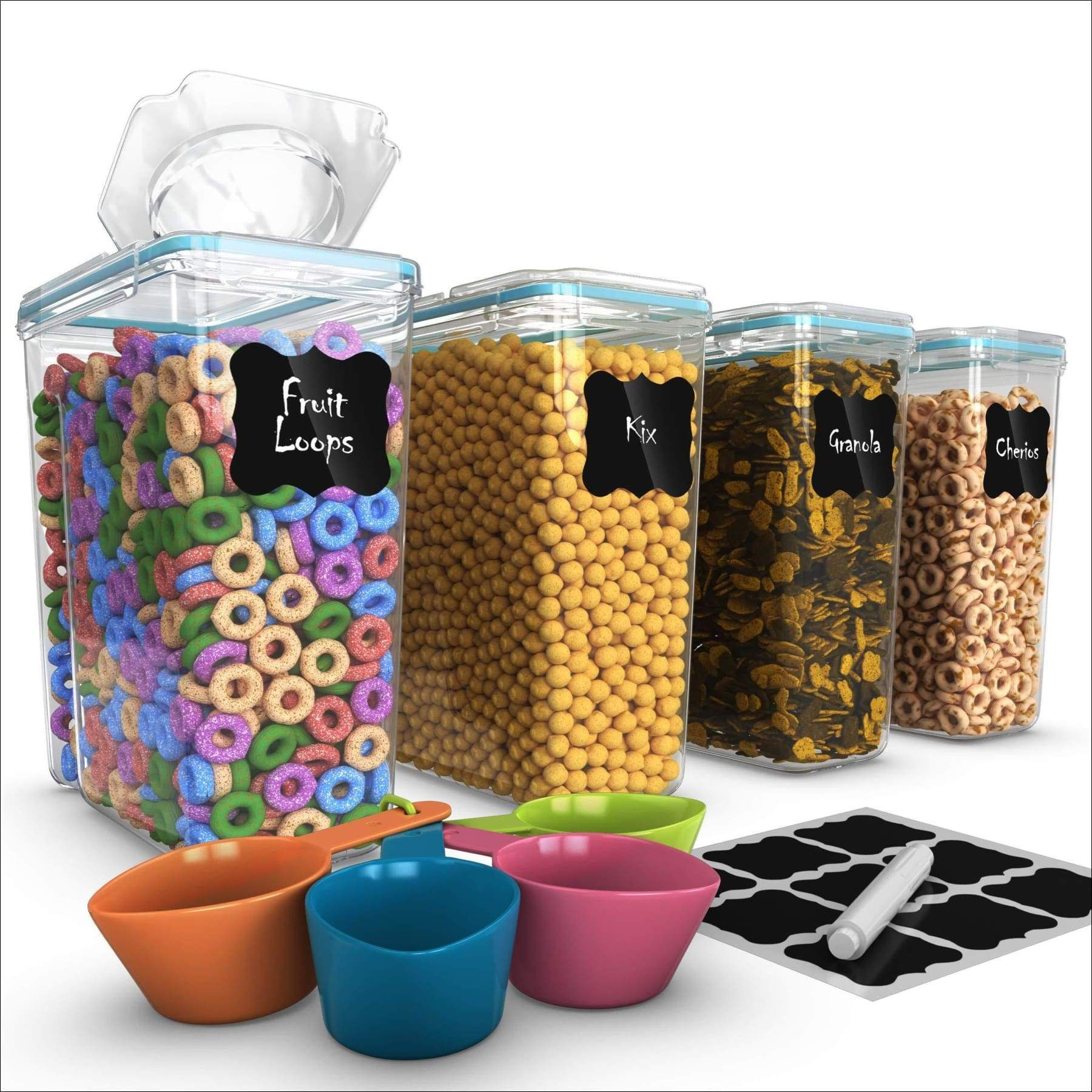Free 2day shipping. Buy Set of 4 Cereal & Dry Food