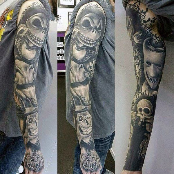 Image Result For Nightmare Before Christmas Tattoo Sleeve