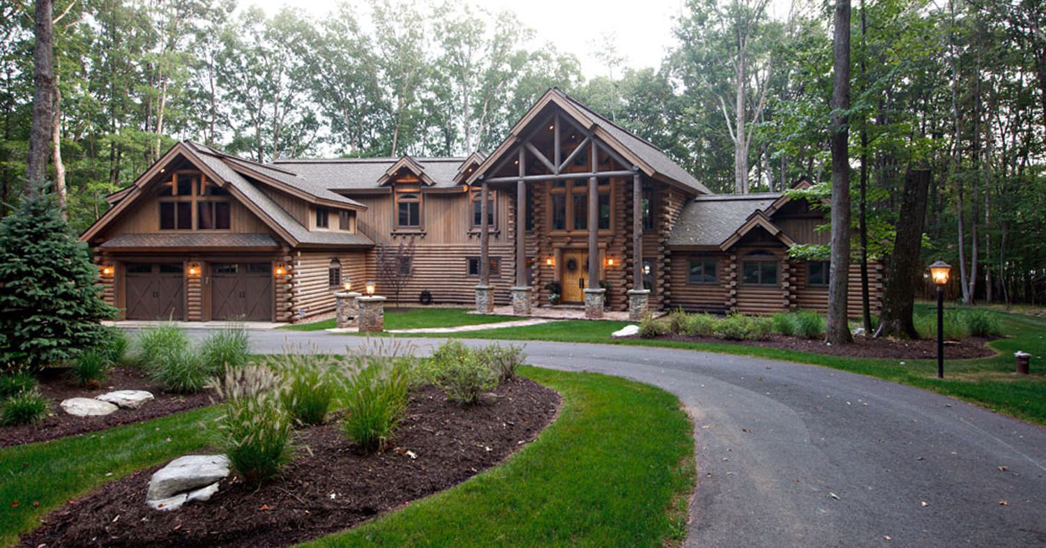 luxury mountain log home plans | showcase of completed homes model
