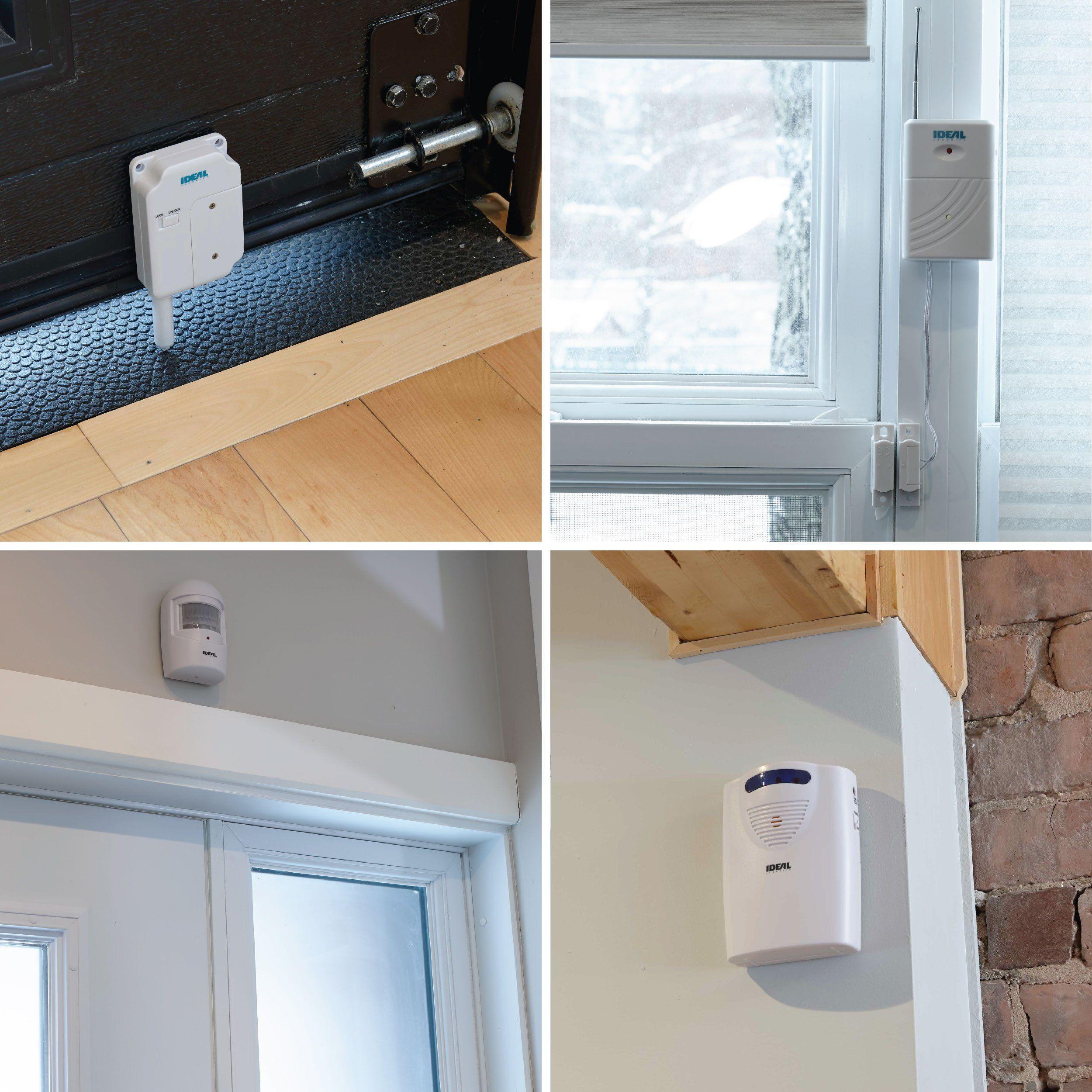 Ideal Security Sk646 Sk6series Wireless Garage Door Sensor Works With Sk6 Alarms White Continuously The Product Garage Door Sensor Home Security Home Alarm