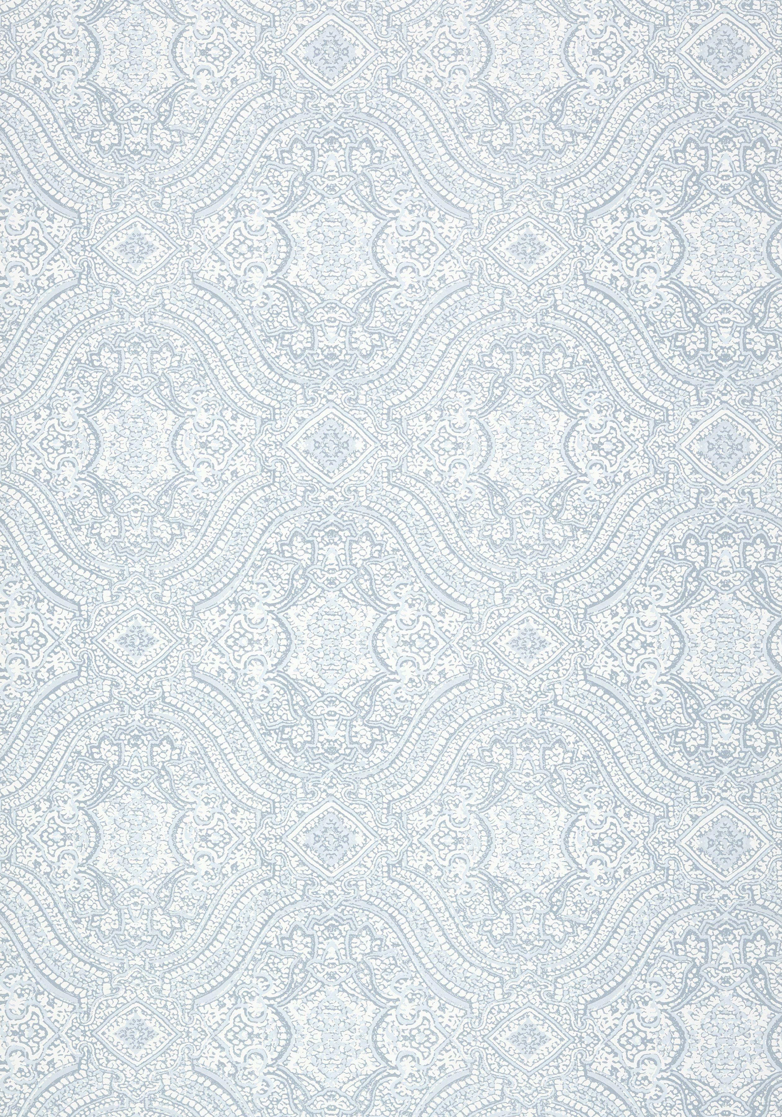 Block Print Wallpaper tulsi block print, aqua, t64165, collection caravan from thibaut