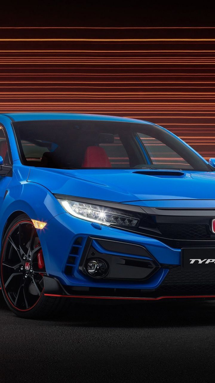 720x1280 Hoda Civic Type 4 Blue Car Wallpaper In 2020 Blue Car Car Wallpapers Sports Car Wallpaper