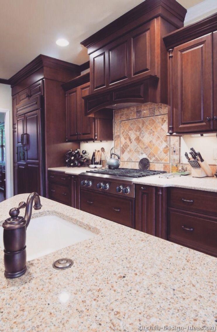 Pinterest Jehssee Cherry Cabinets Kitchen Kitchen Design Cherry Wood Kitchens