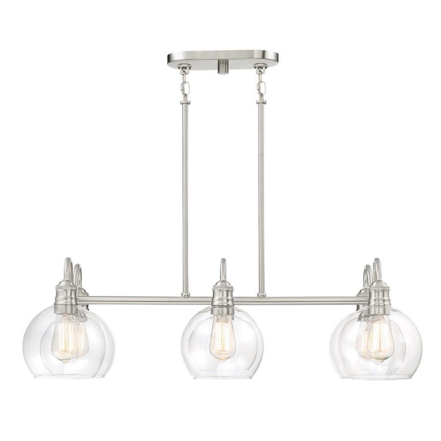 Quoizel Soho 33125In W 6Light Brushed Nickel Kitchen Island Impressive Kitchen Lighting Lowes Decorating Design