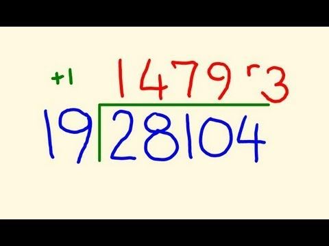 Long Division trick - Fast calculation! YouTube plus loads more ...