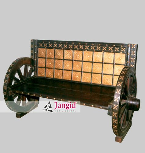 This is Traditional Wooden Cart Wheel Sofa made from Acacia Wood
