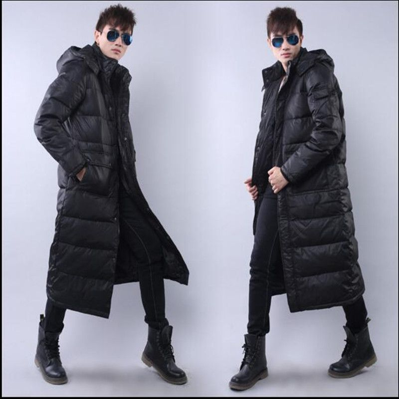 $106.99 (Buy here: http://appdeal.ru/ek00 ) The new winter men long down jacket over-the-knee extension thickening feather coats plus-size cold warm coat for just $106.99