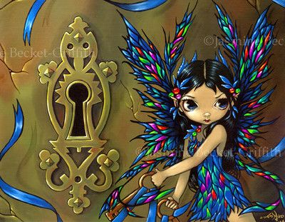 Fairy Secrets fantasy keyhole gothic art Jasmine Becket-Griffith CANVAS PRINT