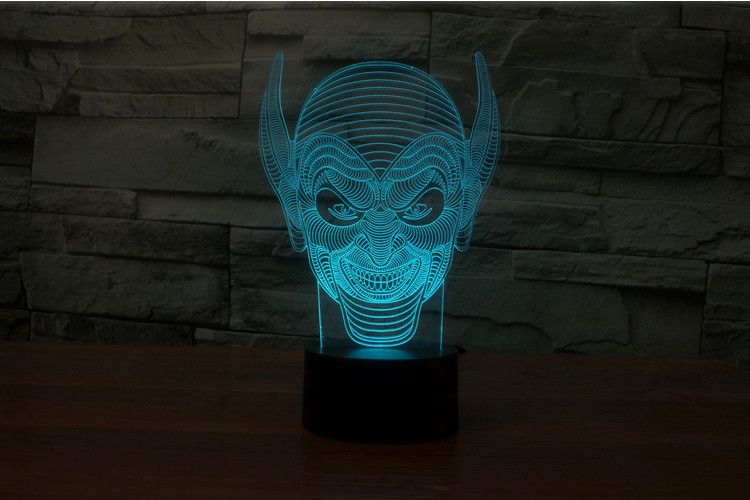 7 Colors 3d Illusion Long Ear Monster Led Table Lamp Beautiful Curves Designs For Sale 3d Illusions Led Table Lamp 3d Illusion Lamp