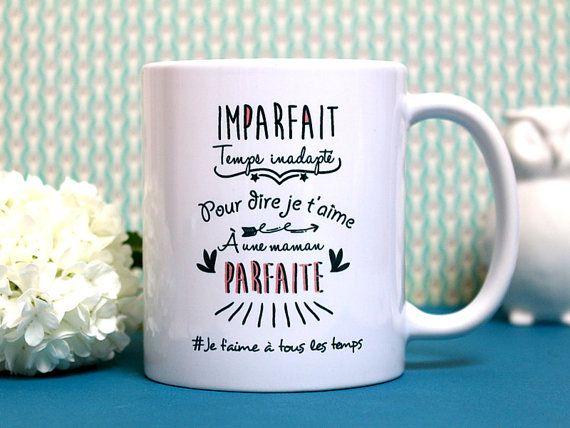 mug maman parfaite tasse personnalisable cadeau pour maman texte et graphisme by piou. Black Bedroom Furniture Sets. Home Design Ideas
