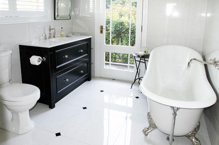 classic bathroom i love the little black hex floor classic rh pinterest com  classic bathroom light fixtures