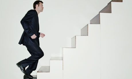 Image result for man running up the stairs
