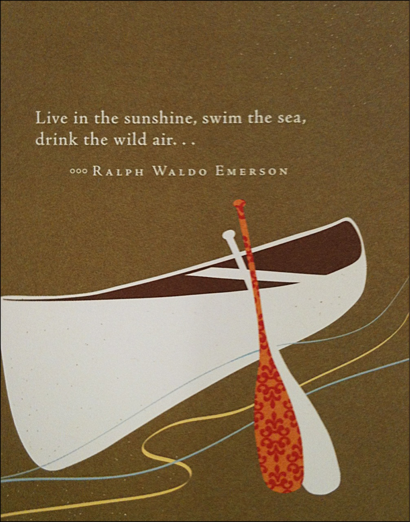 ... drink the wild air.