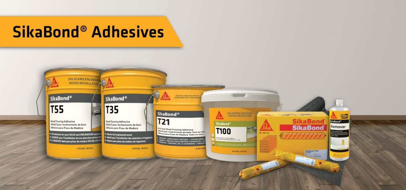 Adhesives & Finishes from our partners at Sika Corporation