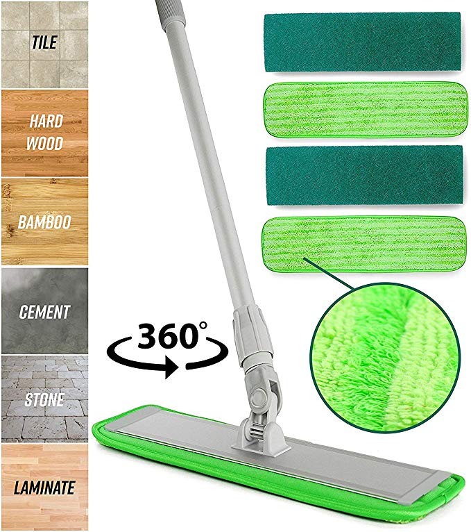 Amazon Com Microfiber Mop Floor Cleaning System Washable Pads Perfect Cleaner For Hardwood Laminate Tile 36 In 2020 Microfiber Mops Washable Pads Floor Cleaner