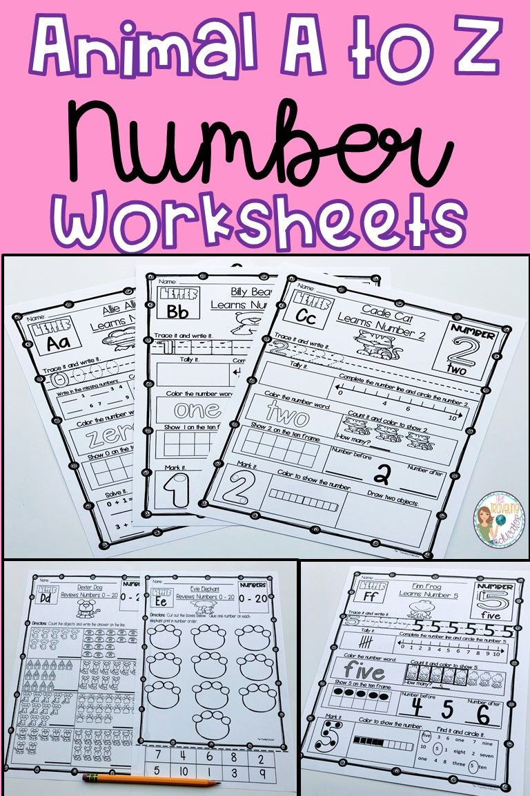 Number Worksheets 0 - 20 | Pinterest | Number worksheets, Number ...