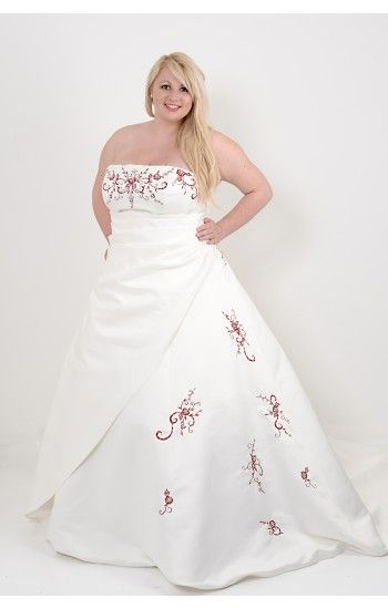 Madeline in Ivory with Claret red embroidery, we can mix the colours ...