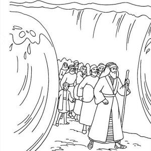 21++ Parting the red sea coloring page download HD