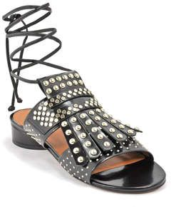 Figlouc Studded Metallic Leather Sandals Robert Clergerie aAjKnO7Ds