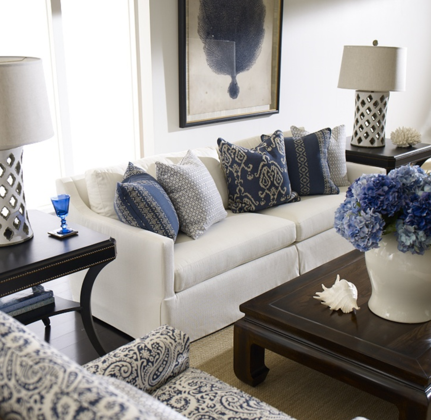 azul e branco | azul e branco | Pinterest | Living rooms, Room and House