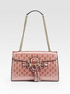 c4806f9c1 Gucci - Emily Light Pink Shiny Microguccissima Shoulder Bag | Luxury ...