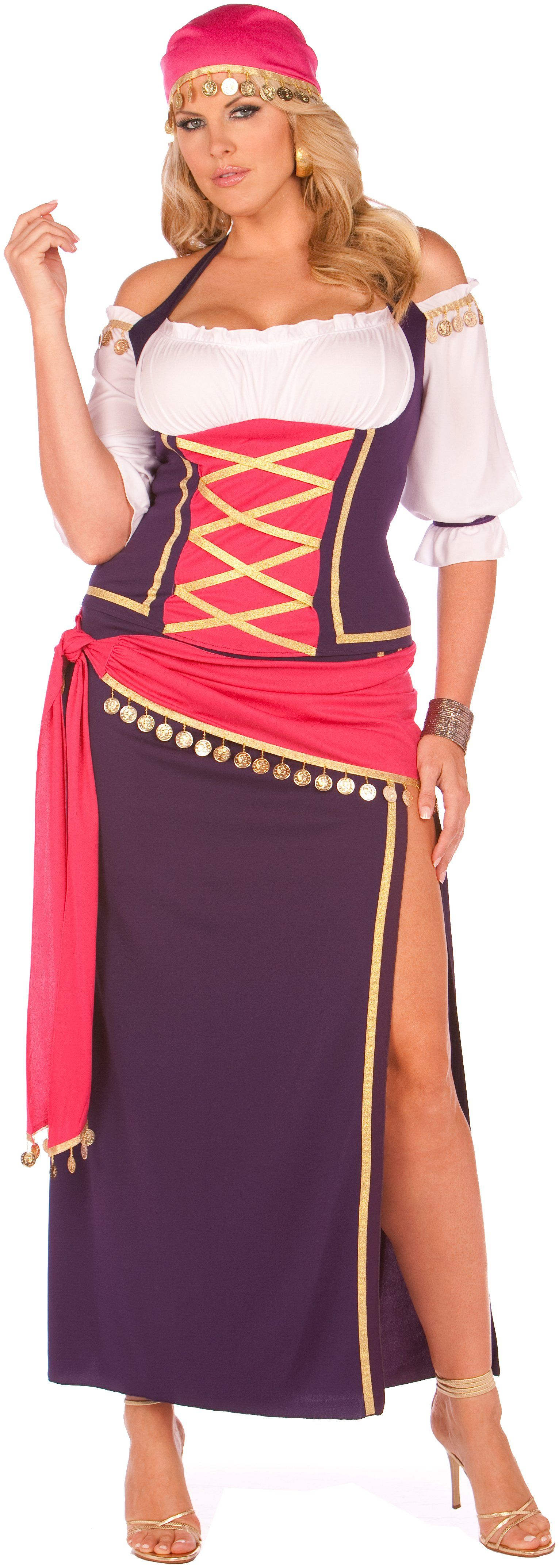 Gypsy Maiden Adult Plus Costume | Beauty | Pinterest | Disfraz para ...