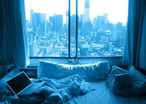 Pin by jenna olsen on B L U E  Apartment view New york city apartment Dream apartment