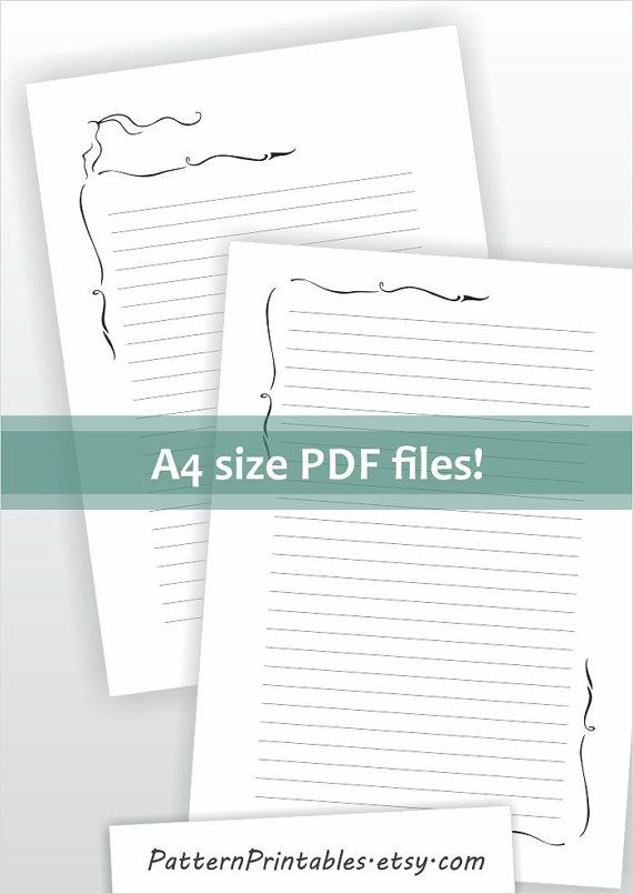 Download for A4 size lined letter writing paper Printable pdf