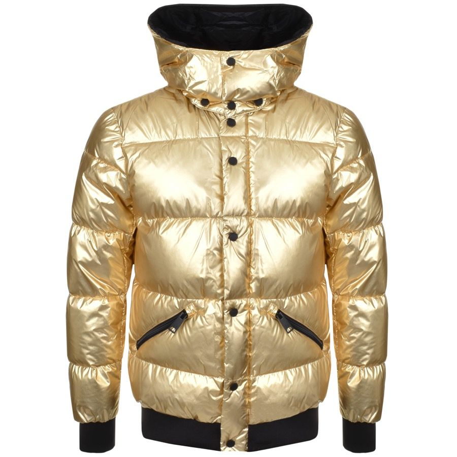 price reduced performance sportswear newest collection Armani Jeans Quilted Puffa Jacket Gold @mainlinemenswear ...