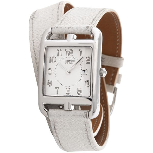 Hermès Women's Vintage Hermès Cape Cod GM Watch, 29mm (€2.045) ❤ liked on Polyvore featuring jewelry, watches, no color, mint watches, hermes watches, stainless steel watches, vintage watches and hermes jewelry