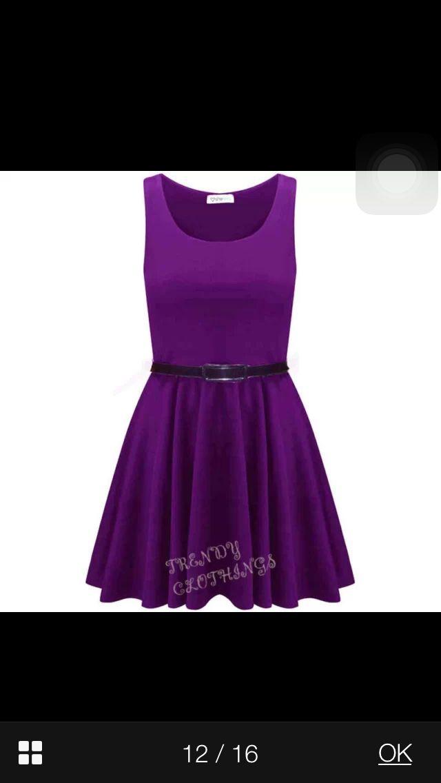 Purple dress for bridesmaid