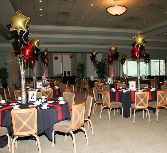 RED BLACK AND GOLD PARTY Theme themed party decor category special