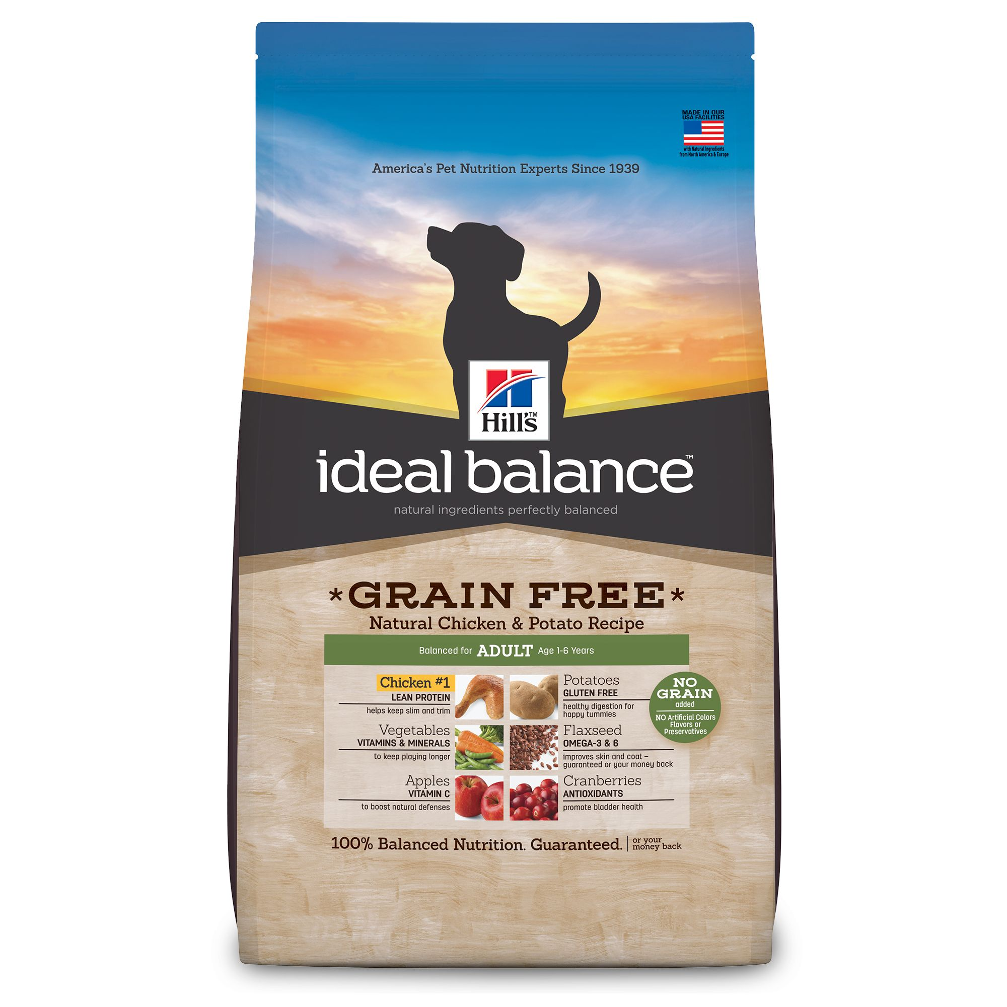 Hills Ideal Balance Grain Free Adult Dog Food Natural Chicken