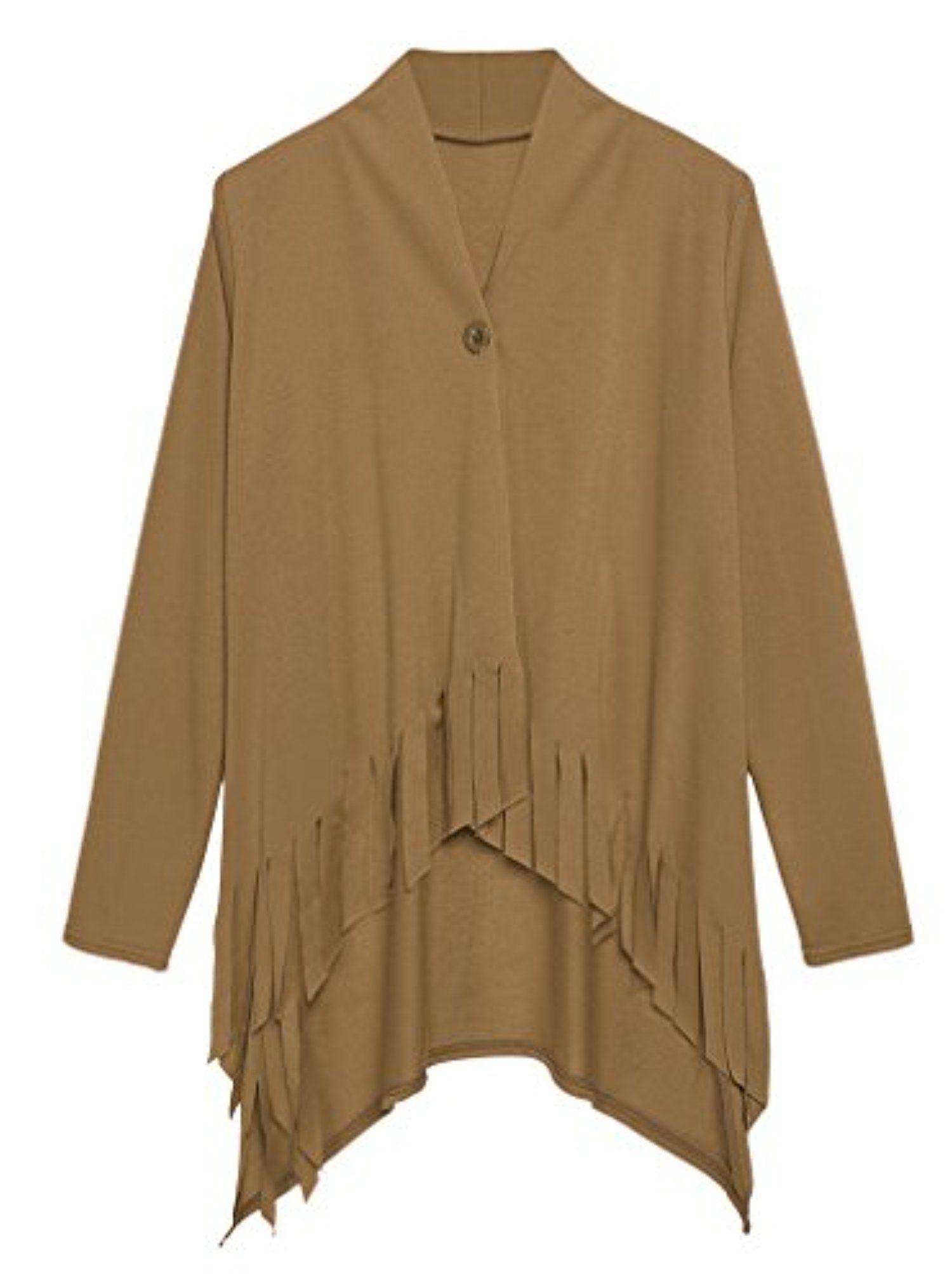 Nacy Women Open Front Draped Tassel Asymmetric Knit Cardigan ...