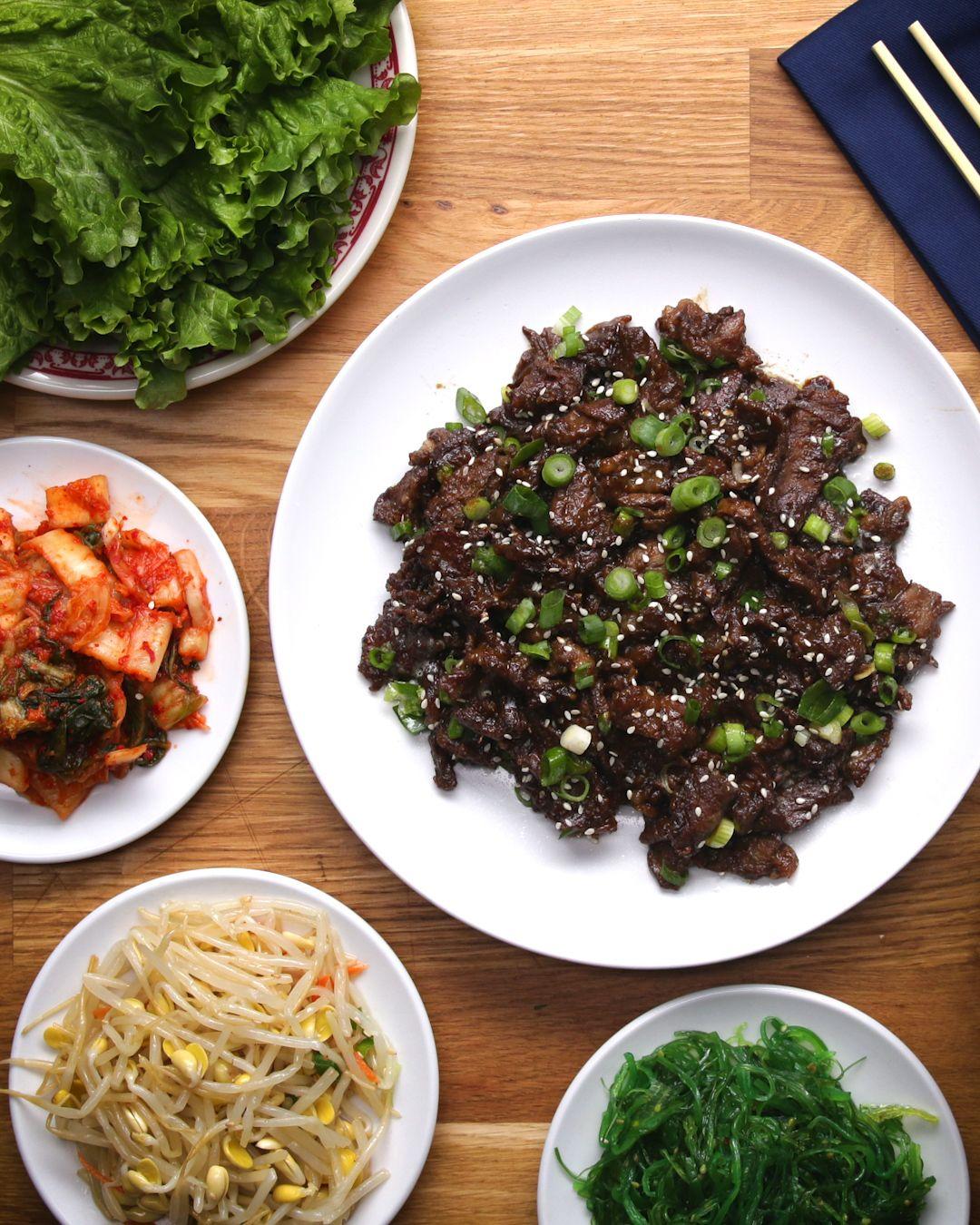 Korean BBQ-Style Beef (Bulgogi) | Proper Tasty | Pinterest ...