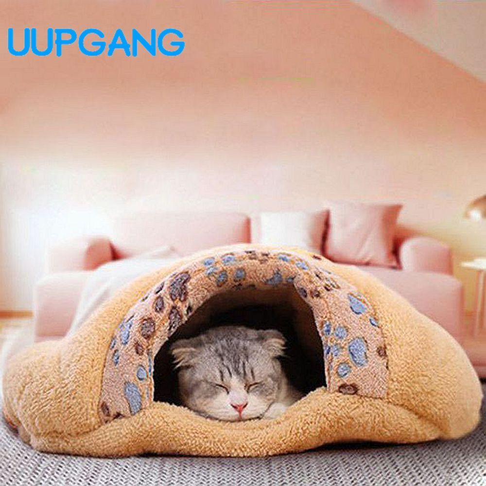 ペット製品暖かいソフトフランネル猫ハウスペットマット睡眠バッグラブリーハンバーガー子犬クッションウサギのベッド犬小屋猫ベッド Cat Bed Puppy Cushion Rabbit Bedding