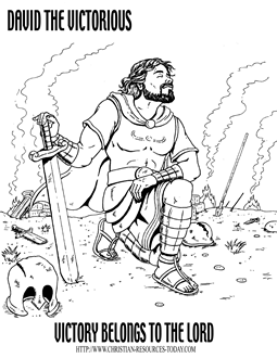 free bible coloring pages bible story pages printable sheets david the victorious shown here