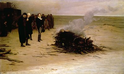 Fine Art Print of The Funeral of Shelley, 1889 by Louis Edouard Paul Fournier