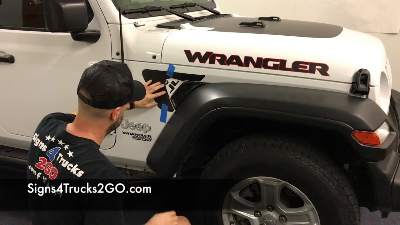 Decal Installation Jeep Jl Wrangler Fender Vent Decal Installation Signs Jeep Jl Jeep Wrangler