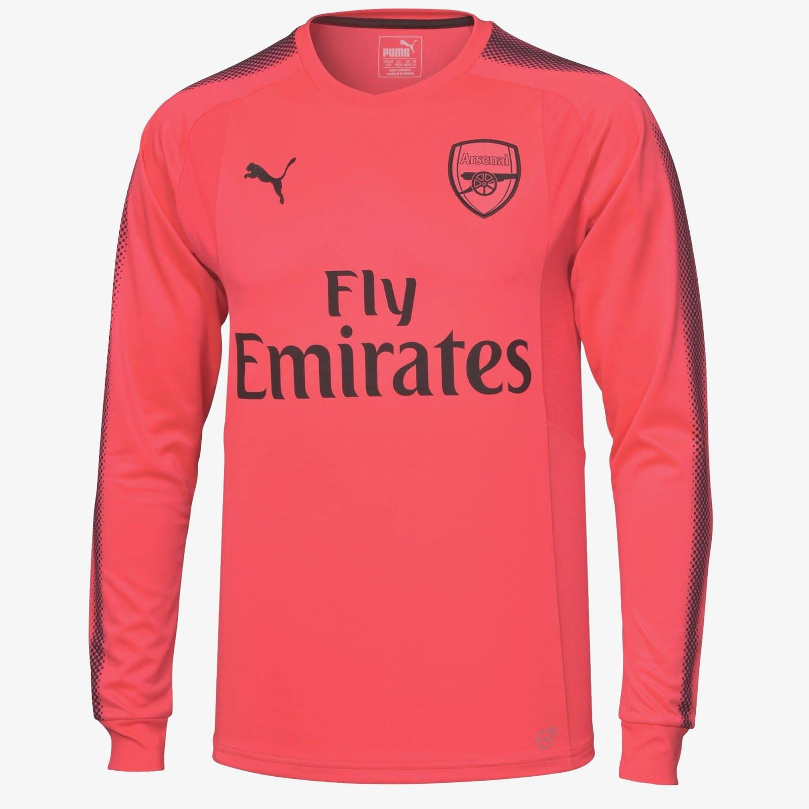 0fbdd1a22 2017-18 Arsenal LS Pink Goalkeeper Shirt