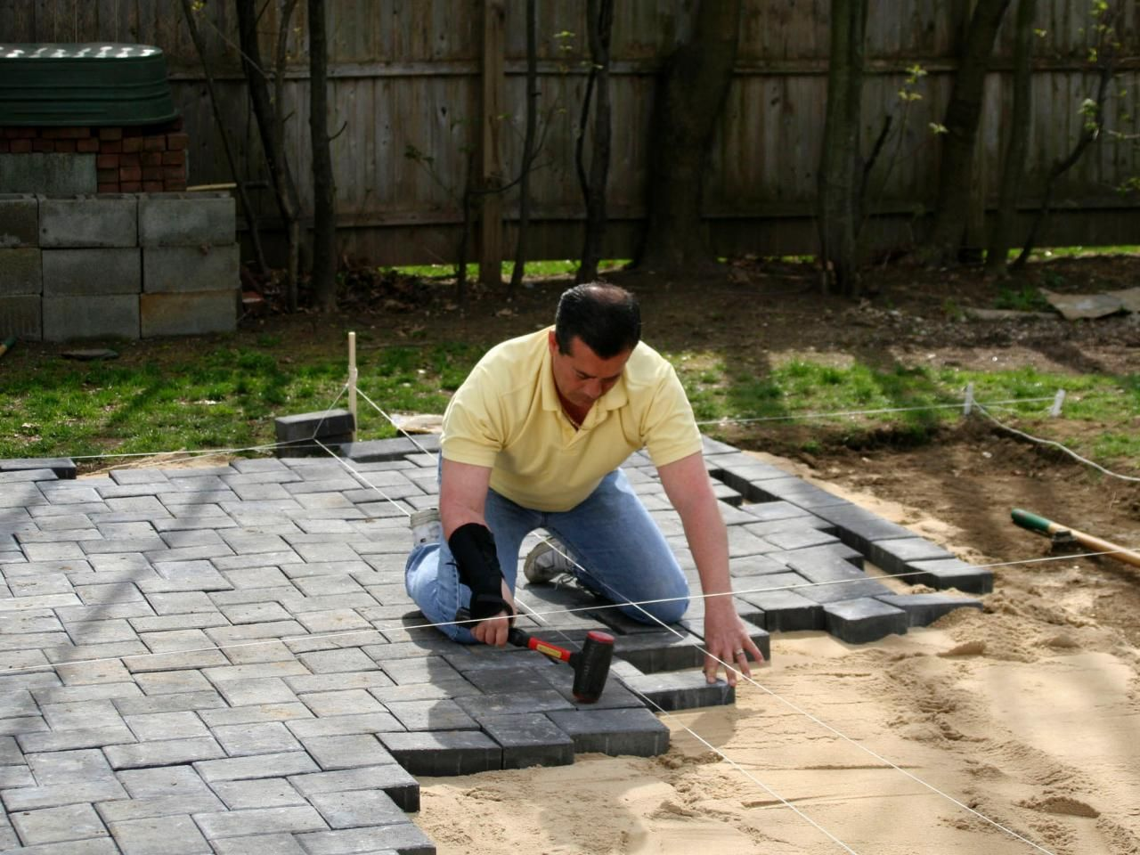 Building Patio With Pavers Forks