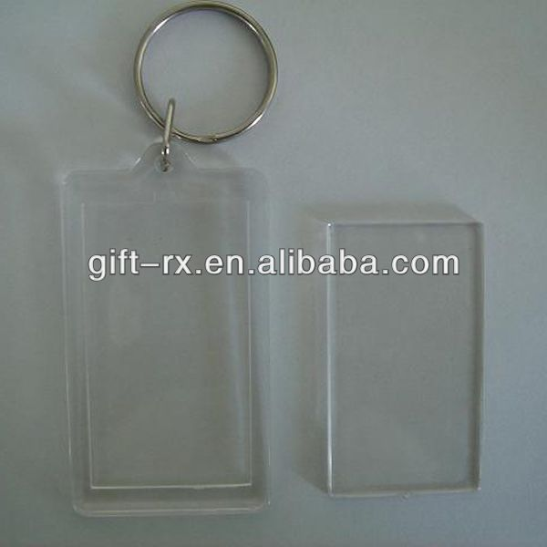 High Quality Souvenir Blank Plastic Acrylic Photo Keychain