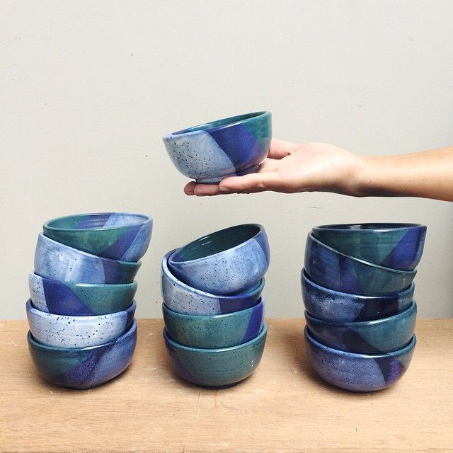 Ayu Larasati Restocking These Small Batch Aquamarine Bowls For Buro Concept Store Coffee Burobali At Petitenget Bali Ceramic Bowl Ceramics Pottery Glazes