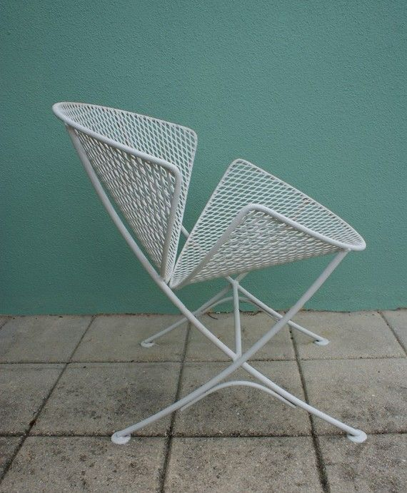 Vintage 2 mid century salterini patio chair set eames era | Muebles ...