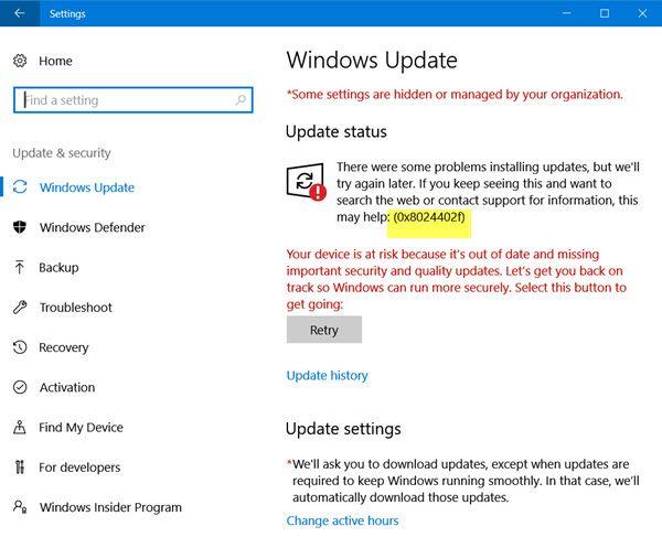 Read How To Fix Windows Update Error Code 0x8024402f In Windows 10 8 7 Coding Error Code Windows