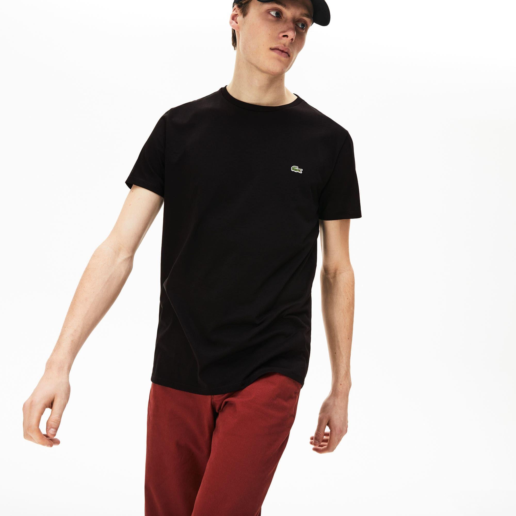 2542e70e1d T-shirt col rond en jersey de coton pima uni en 2019   t shirt ...