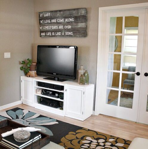 Behr Perfect Taupe Taupe Walls Small Living Room Wall Decor