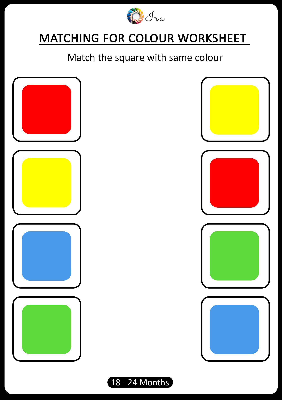 Pin Em Matching Colors Worksheets 18 24 Months Kids
